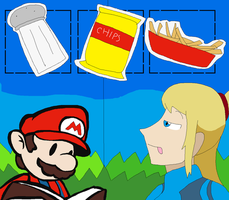 Paper Mario/Metroid: Salty yet Tasty Things by Karasu-96