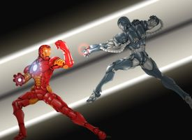 IronMan Vs. WarMachine by Bihumi