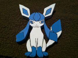 Glaceon Wooden Figure by daghostz
