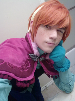 Male Anna Cosplay WIP - Frozen by NipahCos