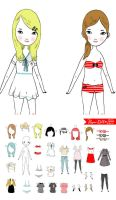 Paper doll playset by perfectnoseclub