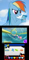 Rainbow Dash playing Sonic Generations by LightDegel