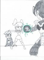 Jaydi protecting Jack (uncolored) by XSreiki772