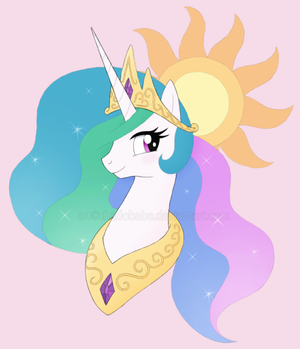 Princess Celestia Bust by ShadOBabe