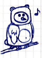 Scribble - The Bear Who Can Fly by vonRibbeck