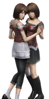 Mio and Mayu Render by NinjaYuffie16