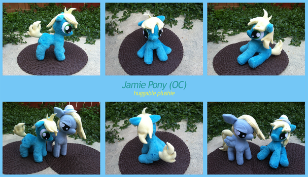 Jamie OC Plush by PetrucciosPlushies