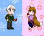 Spice and Wolf Chibis by Niarahime