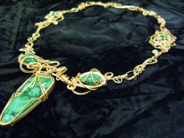 freeform malachite and gold by DPBJewelry