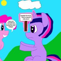 Twilight Sparkle Protests Daylight Savings Time by MasterYubel