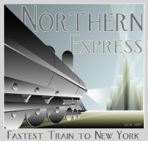 Art Deco Train Poster by nemesisenforcer