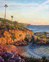 Laguna Beach Oil Painting by Masca-Ridens