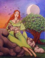 Brigid at Imbolc by papermuse
