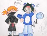 Pkmn: Misty and Tracey dressup by littledinosaurarms