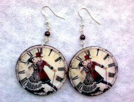 Vintage Pair Clocks by Eibhlin-san