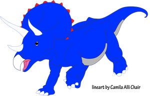 Triceratops by Iguana Teteia by DinoLover09