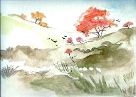 autumnal landscape by AnLyse