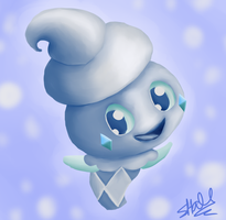 Vanillite: Your Adorable Icepal by TattyBudderfly