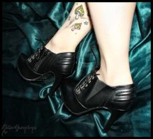 Green silk and killer shoes. by MoiraHermione