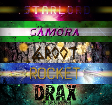 Guardians of the Galaxy Typography by gemma-rubix-cube