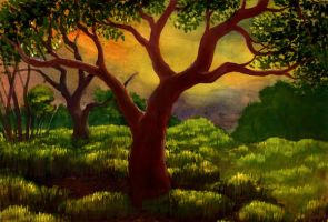 The Morning Hill Tree by Valnor