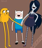 Jake, Finn and Marceline by G0OKU