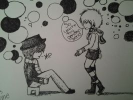 So You're My Genderbend........(Black and White) by kolson98