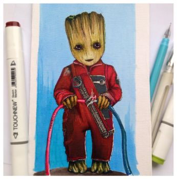 Baby Groot by Caot1ca