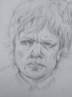 1hr sketch- Tyrian Lannister by EleanorAnsell