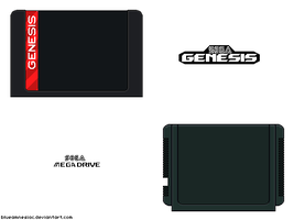 Sega Genesis/Mega Drive Cartridges by BLUEamnesiac