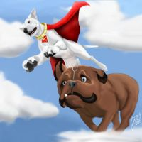 Dynamic Duo Krypto and LockJaw by amydrewthat