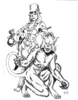 Mad Hatter and Cheserie Cat by Tyrren