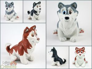 Husky Pupples Round 2 by LeiliaClay