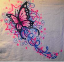 Butterfly Stars- Airbrush by vampireheartagram27