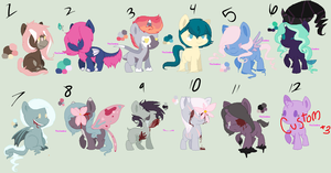 Pony adoptables by ghostiibear
