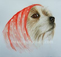Red Riding Dog painting by bicyclegasoline