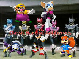 Nintendo and Sega Antiheroes as the Psycho Rangers by Monguin