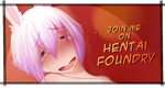Hentai-Foundry Button by Hot-Gothics