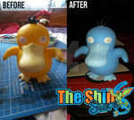 Shiny Psyduck repaint: Before and After by The-Shiny-Store
