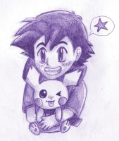 Little Satoshi and Pichu by PacificPikachu