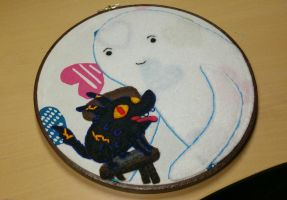 Thank You Embroidery Hoop by monstersbyechidna