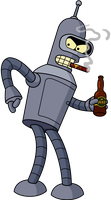 Bender's Shiny Metal Ass by sircle