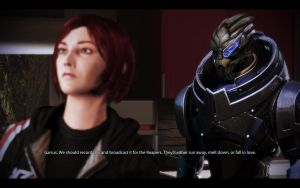 ME3 CDLC Party - Ellis Shepard and Garrus by chicksaw2002