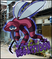 Negativoon from  Youkai Watch by Dragoshi1