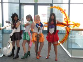 Fanime 2010 - Sailor Scouts by Cosphotos