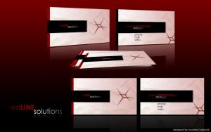 red line business card by gajdoslevente
