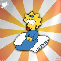 #005 - Maggie Simpson - drawing by keyzar