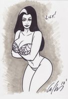 Lily Munster Sketch Warm Up by idiothead