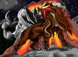 Entei: Beast of Fire by Legend13
