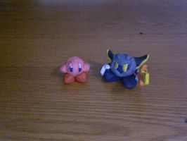 clay kirby and meta knight by KingKirbyThe3rd